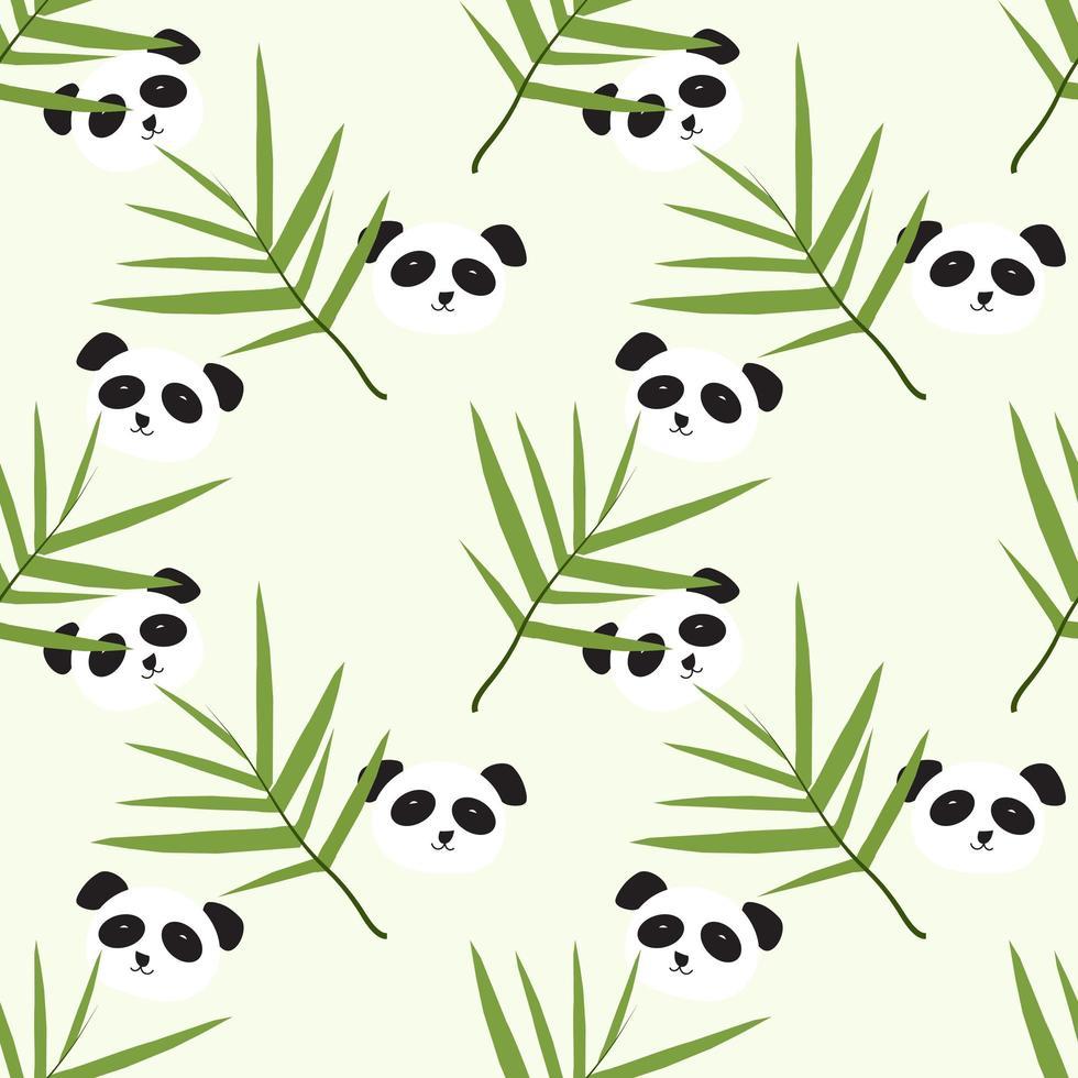 süßes Panda-Muster vektor