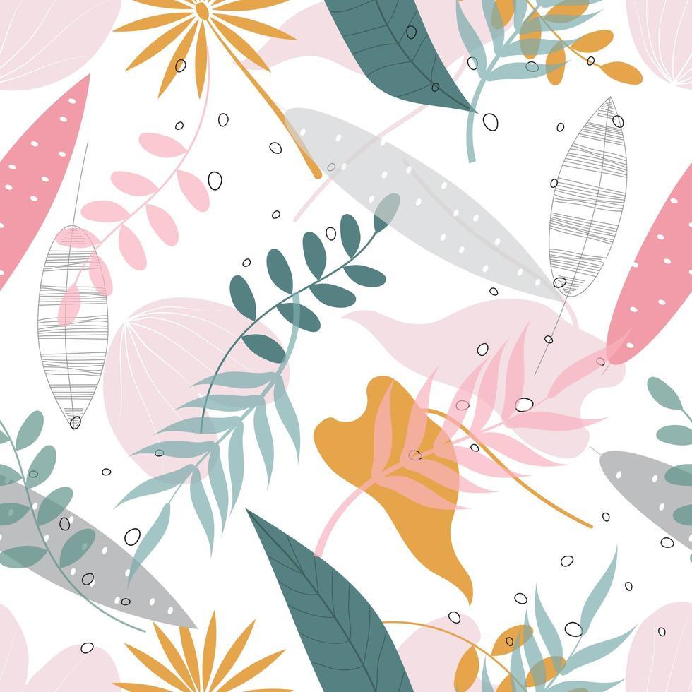 blommönster i pastell vektor