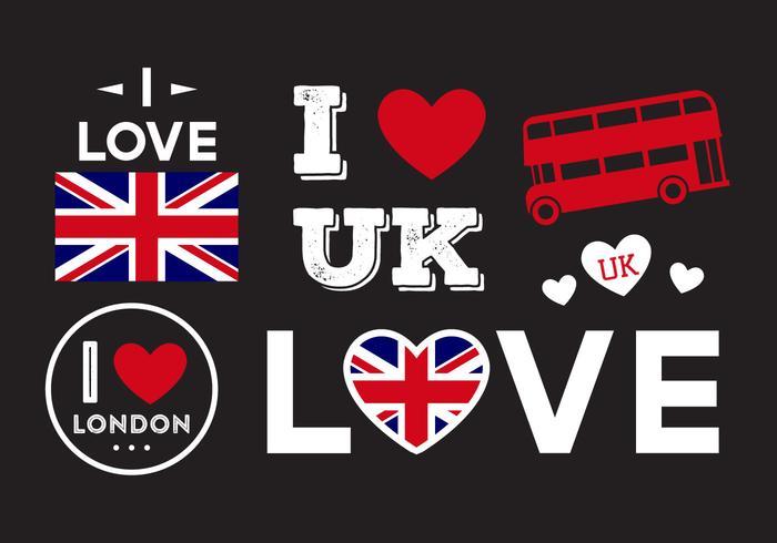 Ich liebe UK Ilustrationen vektor