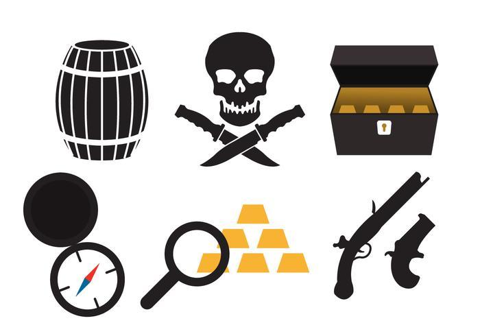 Piraten-Ikonen vektor