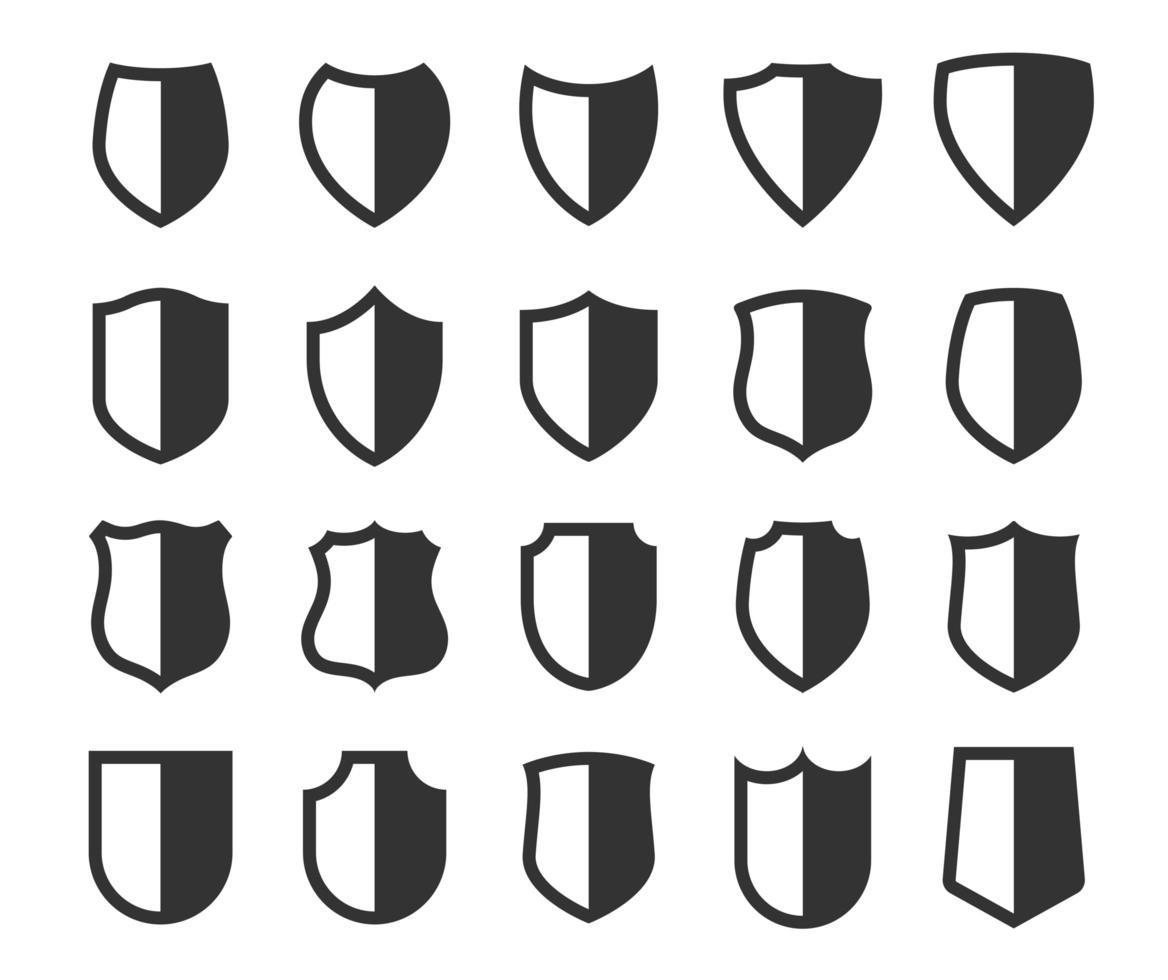 Satz von Schildsymbolen vektor