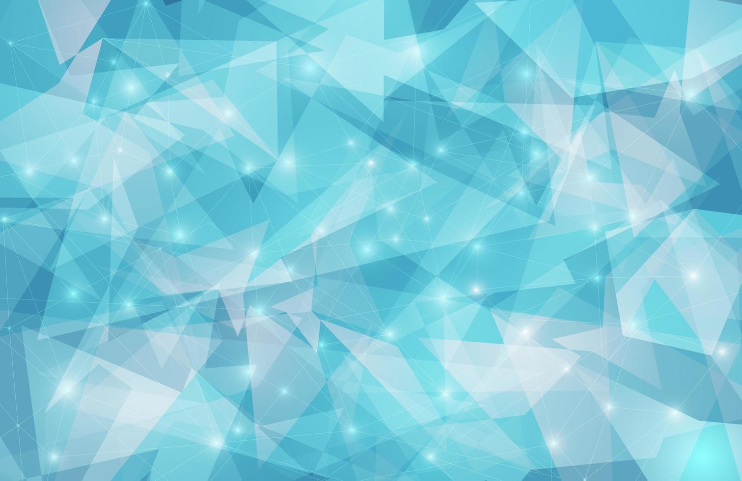 blå glitter triangel mönster design vektor
