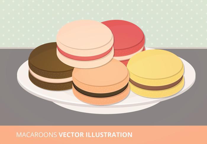 Makaroner vektor samling