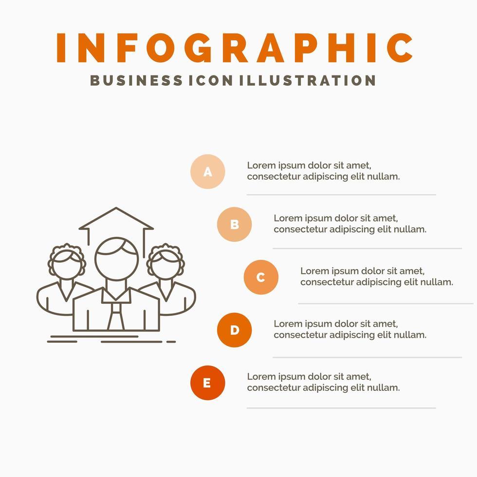 orange röd teamwork infographic design vektor