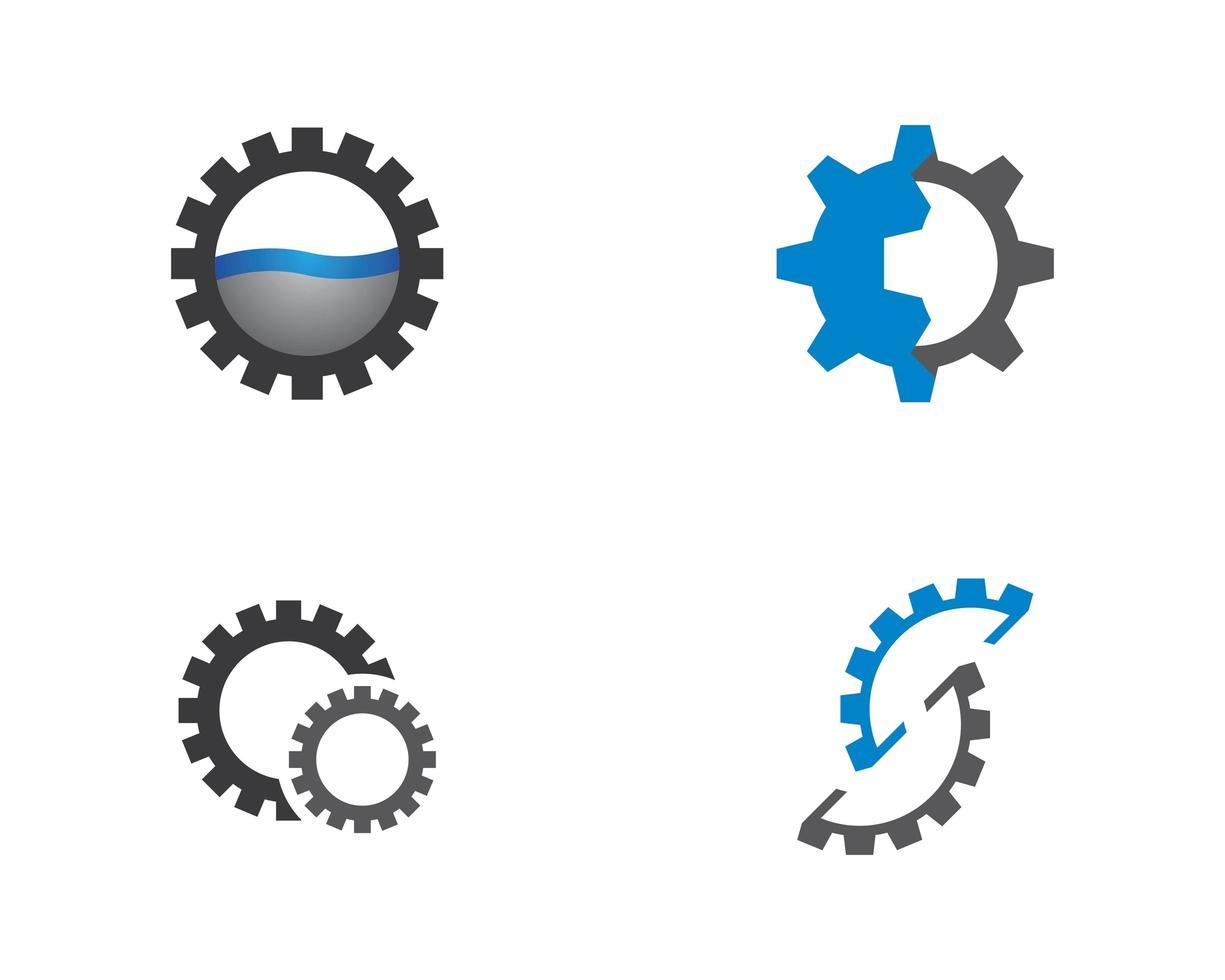 Getriebemaschinenlogo-Symbolsatz vektor
