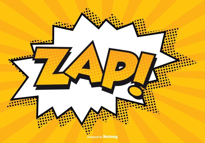 Komisk zap! illustration vektor