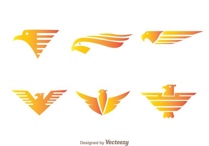 Fly hawk logo vektorer