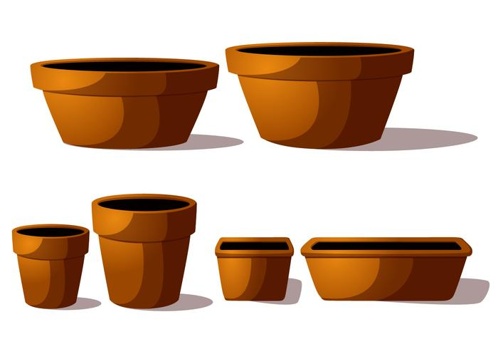 Terra cotta potten vektorer