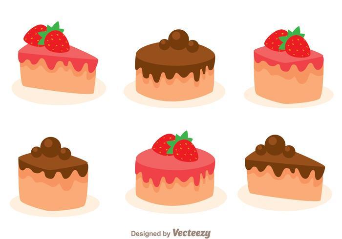 Stawberry och Choco Cake Slice vektor