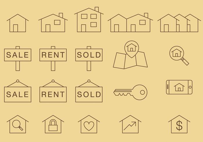 Home Dünne Icons vektor