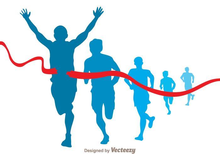 Marathonläufer Vektor