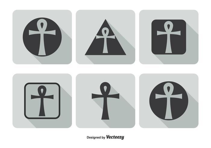 Nyckeln till Life Icon Set vektor