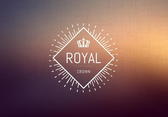 Gratis Vintage Crown Logo Vector
