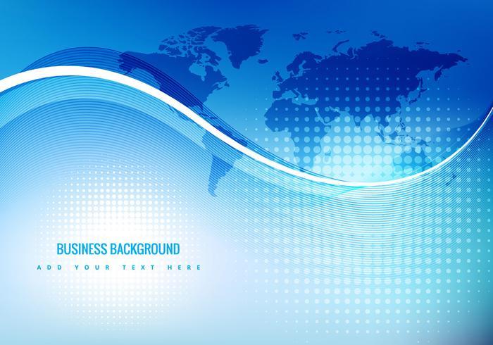 Blå affärsbakgrund vektor