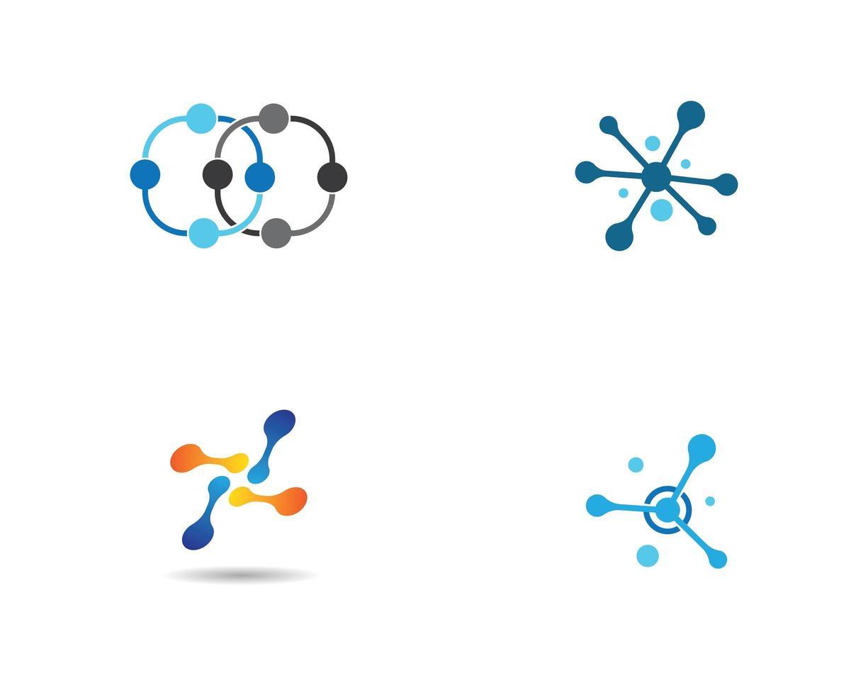 molekylära former Ikonuppsättning vektor