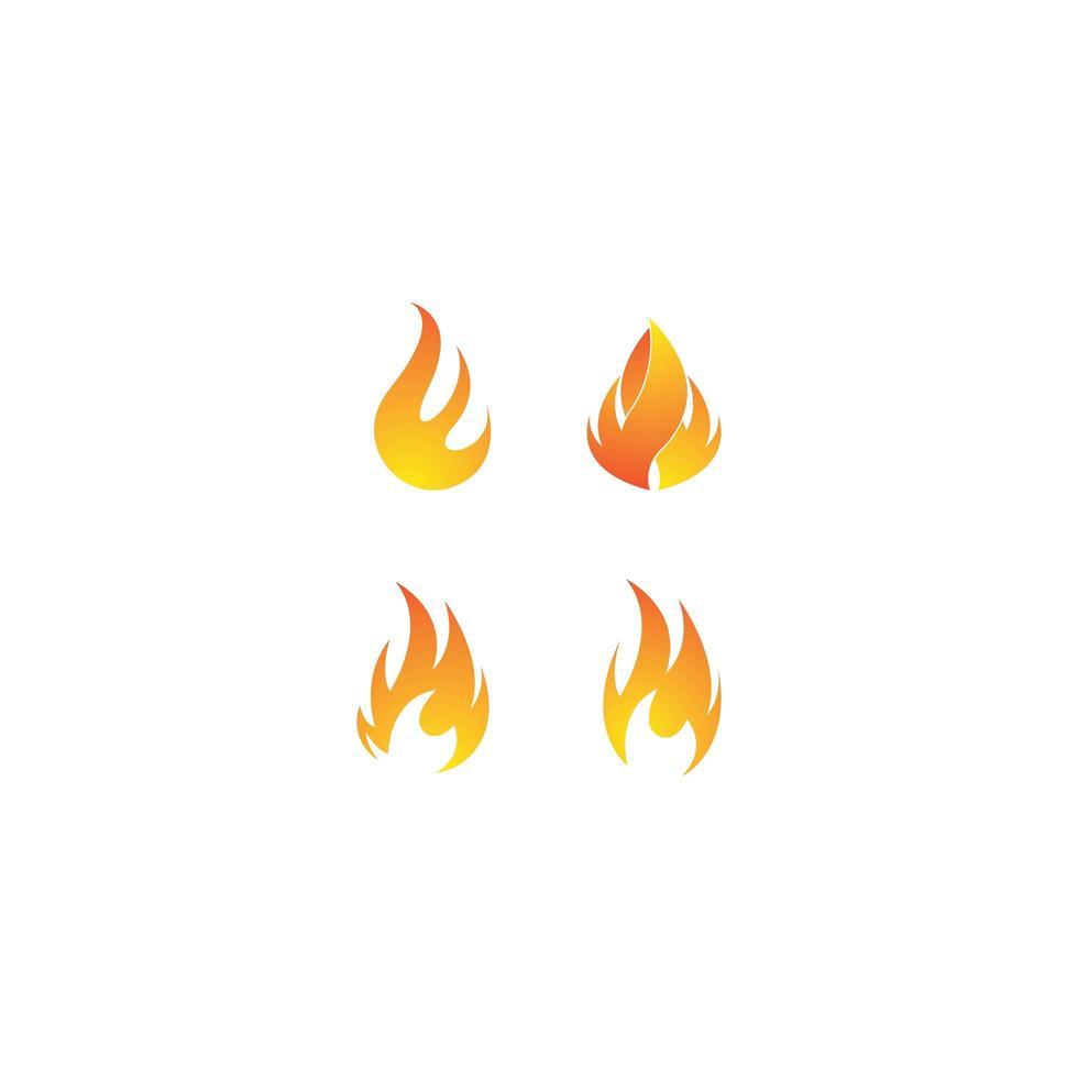 Flammenlogo-Schablonensatz vektor