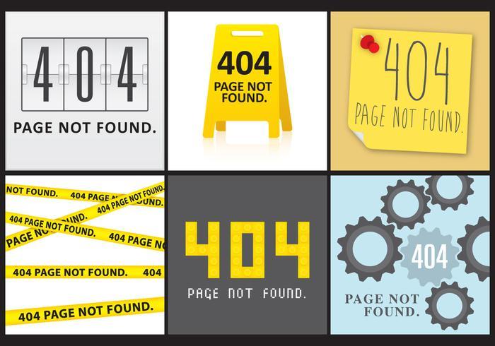 404 Skärmar vektor