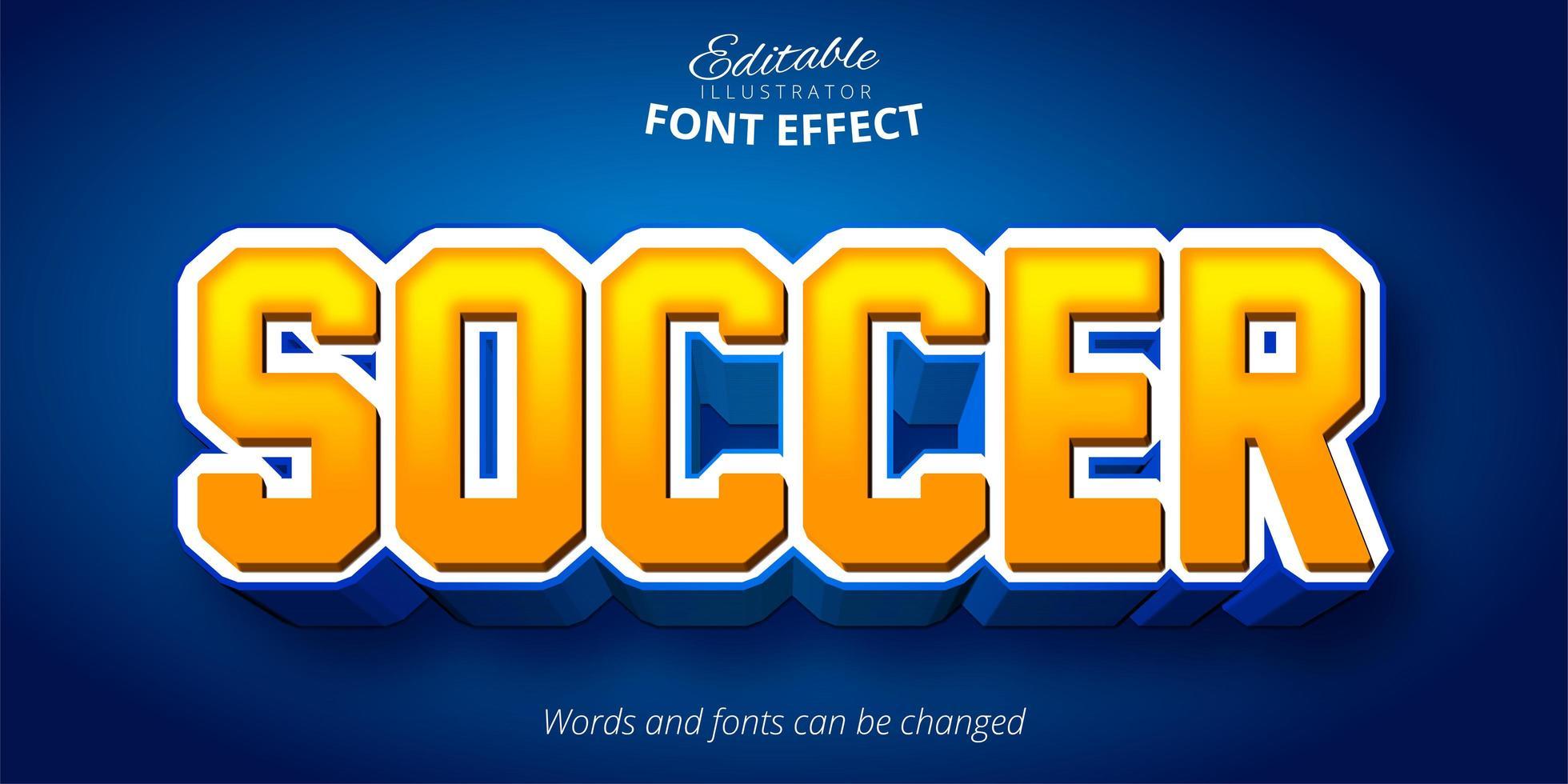Fußball Sport Schriftart Effekt vektor