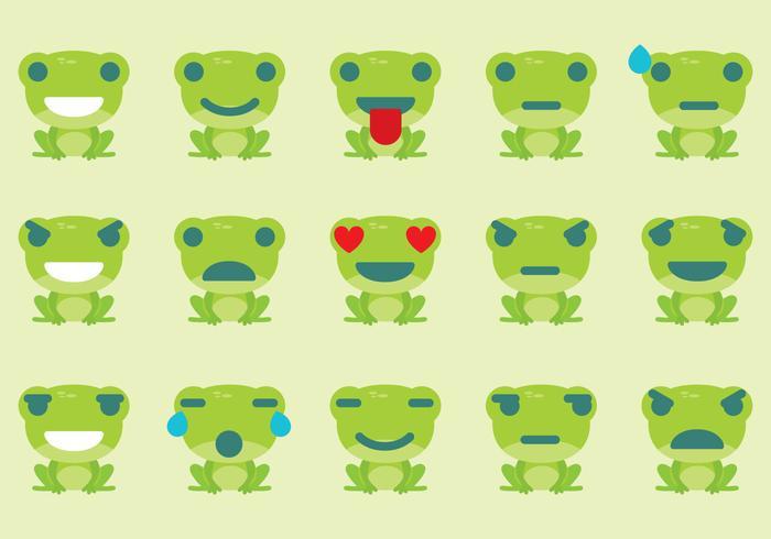 Frosch Emoticon Vektoren