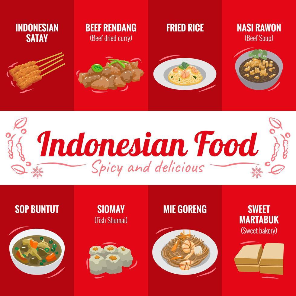 indonesisk mataffisch vektor