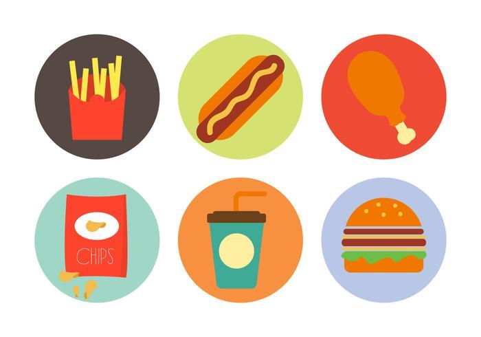 Vektor illustration av olika livsmedel
