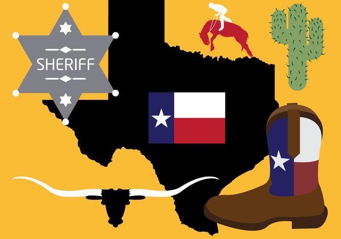 Sammlung von Texas Symbole in Vektor
