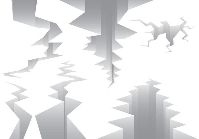 Erdbeben-Fehlerzeilen-Vektoren vektor