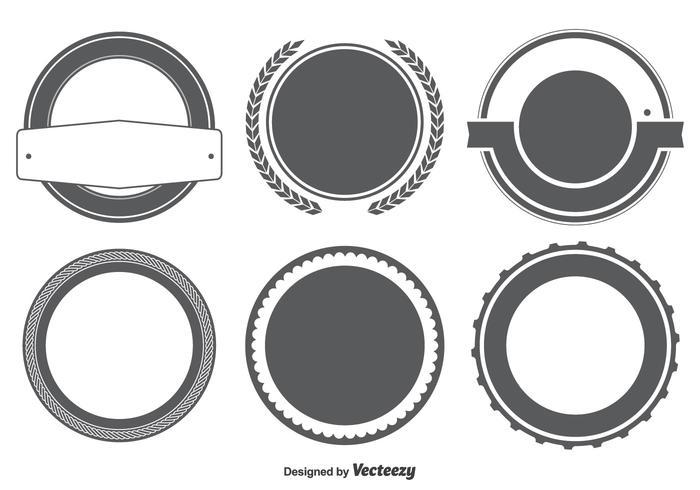 Blank Abzeichen / Etiketten Form Set vektor