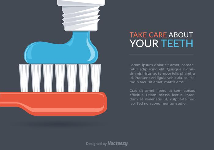 Free Dental Care Vektor Hintergrund
