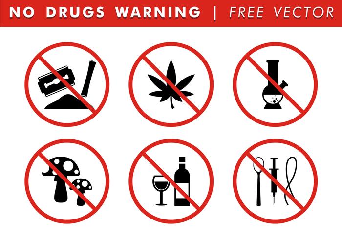 Keine Drogen Warnung Free Vector