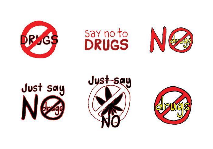 Gratis No Drugs Vector Series