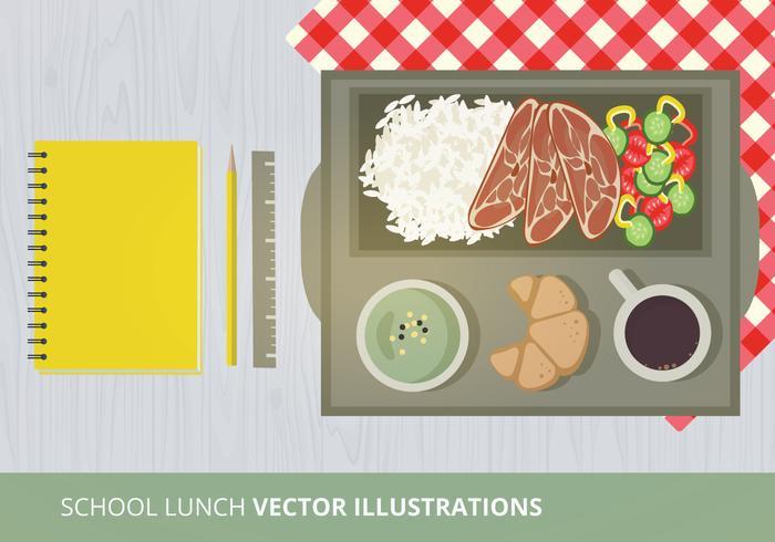 Schule Mittagessen Vektor-Illustration vektor