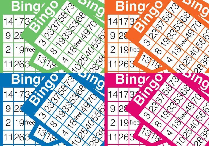 Bingokort bakgrund vektor