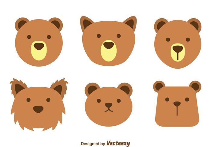 Brown Bärngesichtsvektoren vektor