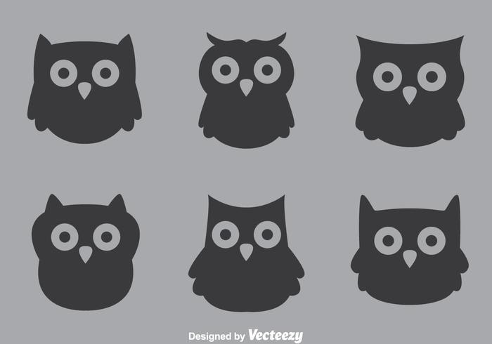 Grå uggla vektorer
