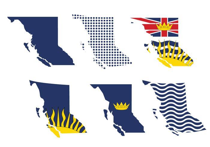 Britisch-Kolumbien Karte Vektor