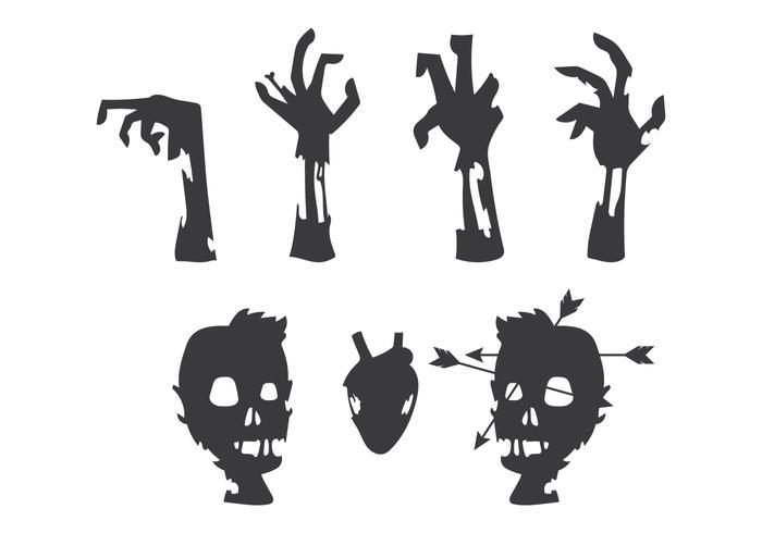 Zombies kroppsvektor vektor