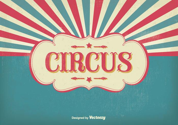 Vintage cirkus illustration vektor