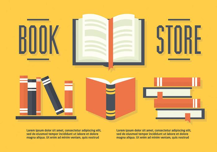 Kostenlose Reihe von Büchern in flachen Design Vektor-Illustration vektor