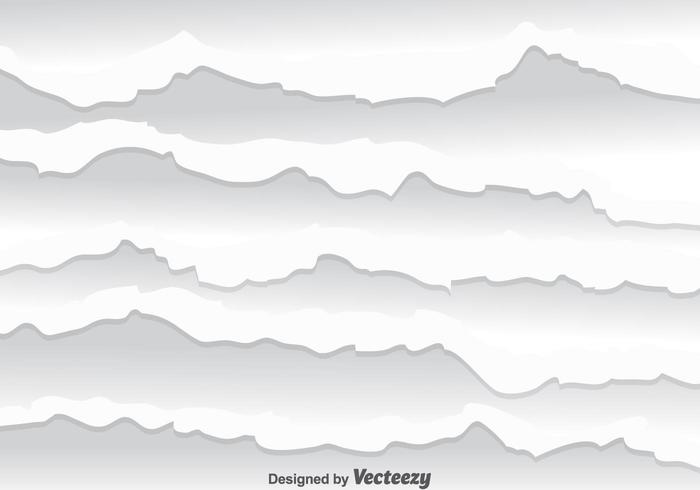 Weiß zerrissenen Papier Vektor