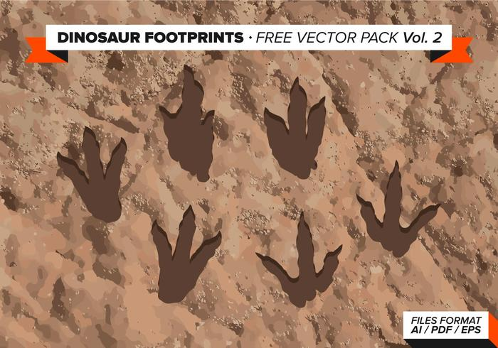 Dinosaurier Abdrücke Free Vector Pack Vol. 2