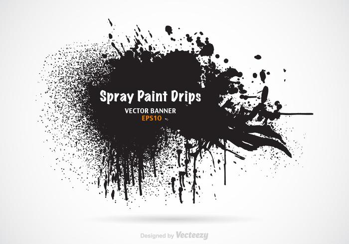 Free Spray Paint Drips Vektor Banner