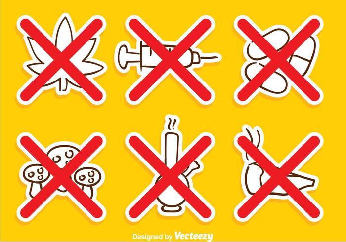 Kein Drogenkreuzzeichen vektor