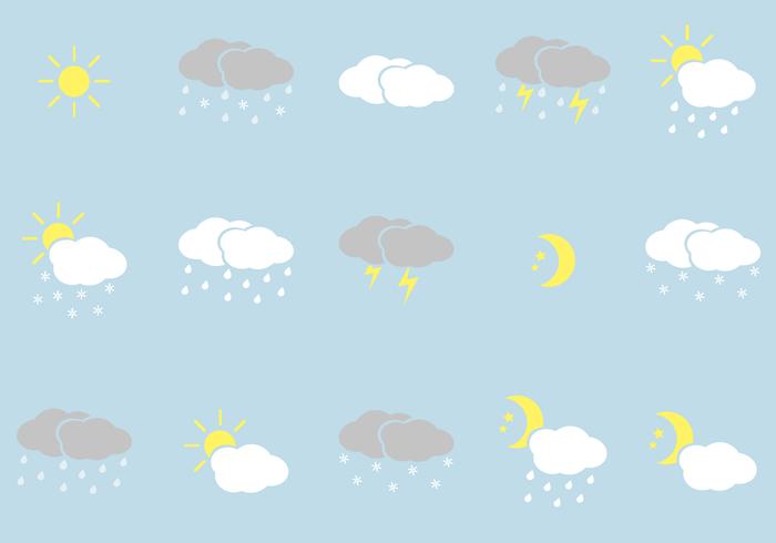 Kostenloses Wetter Icons Vektor