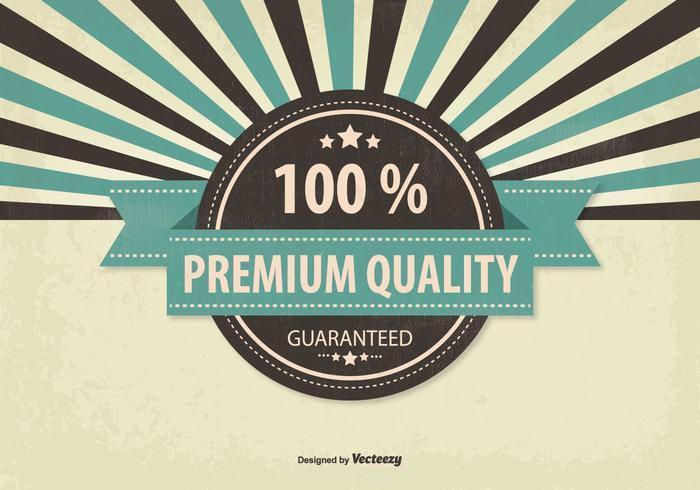 Retro reklamkvalitet kvalitets illustration vektor