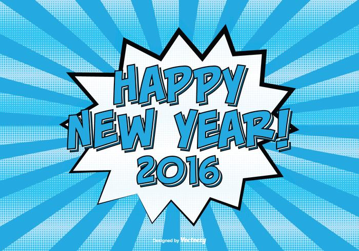 Comic Style Gott nytt år Illustration vektor