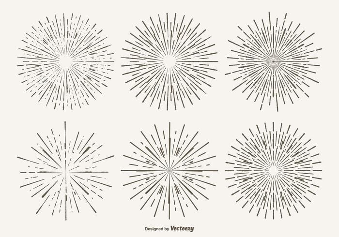 Vintage starburst form set vektor