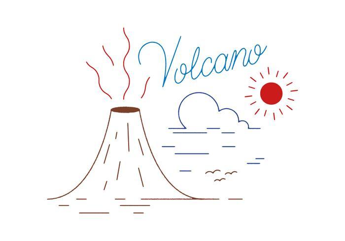 Freier Vulkan-Vektor vektor