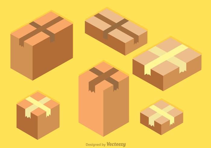 Isometrische Kartons Vektor