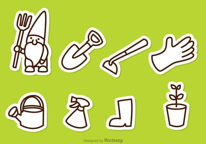 Ikoner för trädgårdsskötsel vektor
